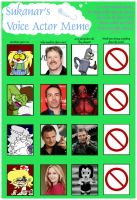 Voice Actor Meme: The Revengance by SpiketheKlown