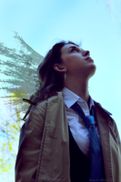 SPN Castiel (Female Cosplay) by Kateliana