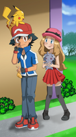 RQ5 - Ash and Serena by FloisonKeya