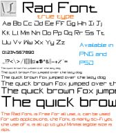 Rad True Type Font by Umbot