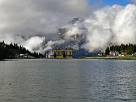 Lake and clouds by Sergiba