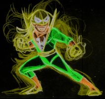 iron fist neon by AlanSchell