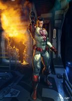 CITY OF HEROES -  Warden Alec Strader by isikol