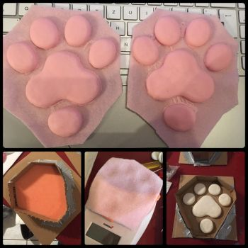 My own silicon paw pads by Sethaa