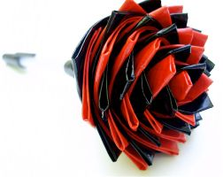Black and Red Duct Tape Rose by bobtheenchantedone