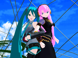 _MMD_ Miku and Luka by xXHIMRXx