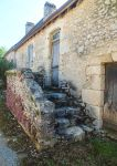 June 2014 - Old mossy house and stairs 02 by HermitCrabStock