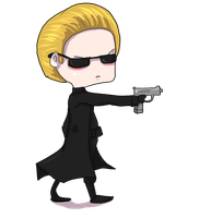 Chibi Wesker by UmbrellaSpecter