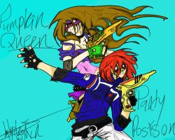 Killjoys!!! Pumpkin Queen and Party Poison by TheHeadlessArtistart
