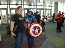 Captain America with Fan by steveclaus