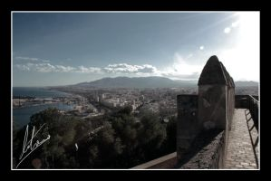 Malaga from the Castle by Morillas