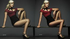 plus size model retouch by hellomia