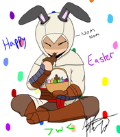 C-7 Altair the Easter Bunny by CallekDarren
