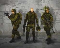 3 Soldiers by Zerrnichter