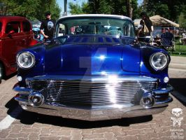 Blue Classic Car Front End by HotCarsLadyARL-Raven