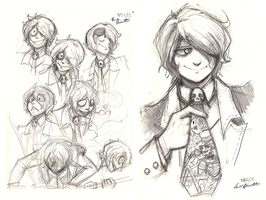 Ursulla sketch pile plus one ugly tie by bittermause