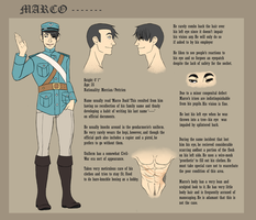 Marco --- Character Sheet by PidgeonToe