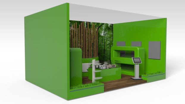 Booth PU Goverment by ManursStudio