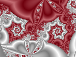 MBF 23 Red and White Spirals by DWALKER1047