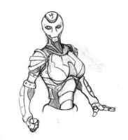 Female Warforged - Iron-Spider by EberronFanArt