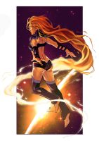 Starfire Pin Up Colors by Robert-Ryans-Art