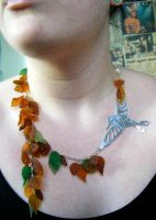 The Autumn Bird Necklace 2 by Cinnamonster