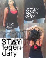 stay legendary women  tank by Sabre-Art