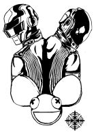 Daft Punk and Deadmau5 by HereticTemplar