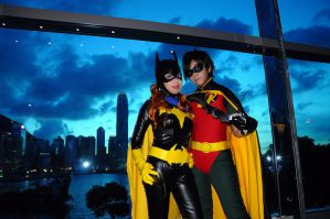 Robin and Batgirl 1 by fuuyukida