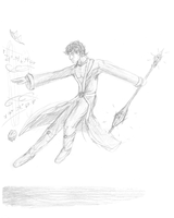 SKETCH - Spell-casting Priest by Radiance-Eternal