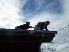 Ray and Shay on the Roof by southernstingray