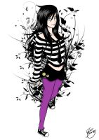 Emo girl colored version 2 by Hoho-art