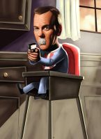 Baby Jack Bauer Caricature by HeroforPain
