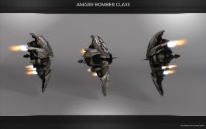 The new Amarr Bomber by VanKaiser