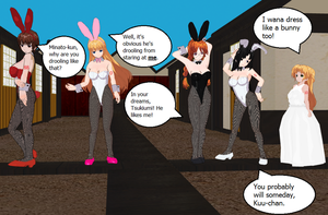 Four Sekirei Bunnies by quamp