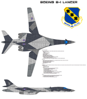 Boeing B-1 dazzle-camouflage by bagera3005