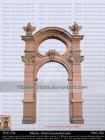 Historical Gate with vases by YBsilon-Stock