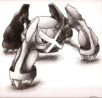 Metagross by johnrenelle