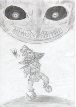 Skull kid: 3r paso by Pexawnly