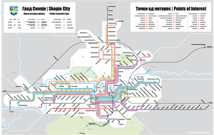 City of Skopje - Public transport map by alexgizh