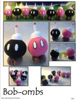 Bob-omb Plushies by SoandSewPlushies