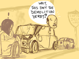 Demolition Derby by angryzenmaster