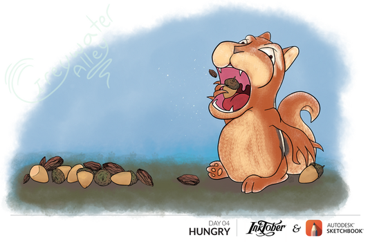 GreywaterAlley inktober day 04 Hungry drawtober by GreywaterAlley