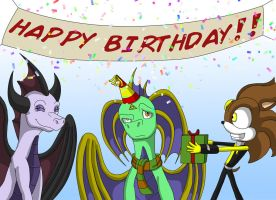 Kip's Awesome Birthday Party by RobtheHoopedChipmunk