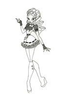 Winx Club Hallowinx Layla coloring page by timefairy237
