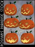 Jack O'Lanterns 004 by poserfan-stock