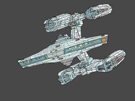 Constellation Class Sketch 2012 by wookieebasher