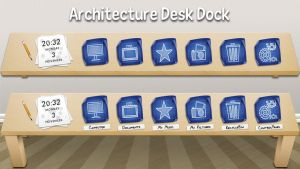 Architecture Desk Dock for xwidget by jimking