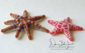 Felted Starfish by FamiliarOddlings