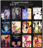 2015 Summary of Art by CrispyCh0colate